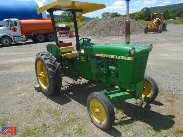 John Deere 1010 Pto : Auctions international auction town of orange highway