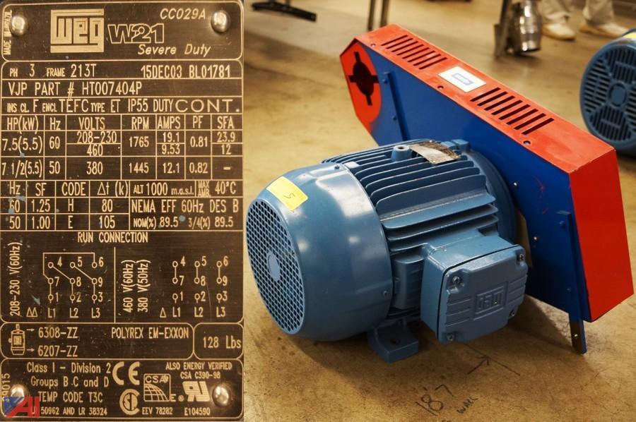 Auctions international auction surplus industrial for Weg severe duty motor