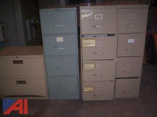 Lot of File Cabinets and Desks