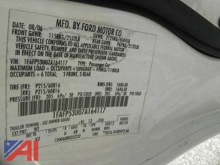 2007 Ford Taurus 4DRSD