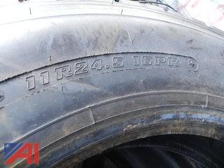Lot of 8 Firestone 11R24.5 Tires w/ at least 60% Tread Remaining
