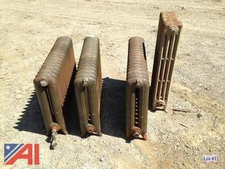 (4) Used Cast Iron Radiators