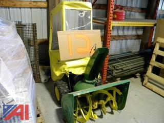 John Deere 1032D Walk Behind Snowblower w/ Snow Cab