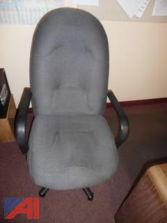 (2) Executive Fabric Chairs