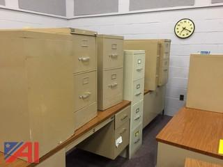 Lot of Steel Filing Cabinets