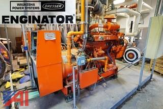 (2) Waukesha Enginator #VSG11G Natural Gas 113 KVA Generators With Control Bank