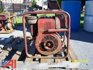 Gasoline powered Portable Generator & (3) Gasoline powered Portable Pumps