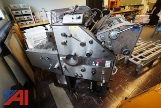 3 Pc A.B. Dick 9840 Offset Press, Bourg AGR Collator, Bantam 1 Paper Counter