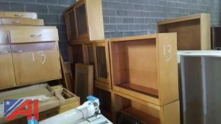 Lot of Assorted Maple Cabinets and More
