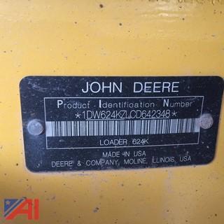 2012 John Deere 624K Front Loader