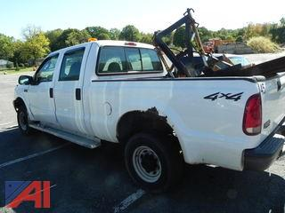 2003 Ford F250 SD Crew & Cab Pickup w/ Plow