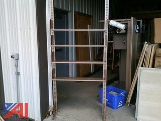 Lot of Metal Library Shelving