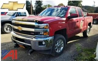 **4% BP** 2015 Chevy Silverado 4x4 Z-71 Pickup Truck With Western Plow