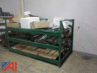 (2) Sections of Gravity Feed Pallet Racking