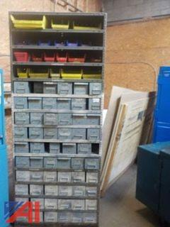 Large Parts Shelf with Bins