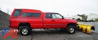 2002 Dodge Ram 2500 Laramie Pickup With Plow & Cap