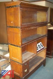 Antique stackable book cases.