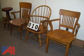 Lot of wooden chairs