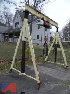 2 Ton Adjustable Gantry Lift w/ Coffing Hoist