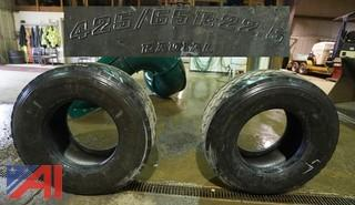 (2) Bridgestone M844 Radial Truck Tires