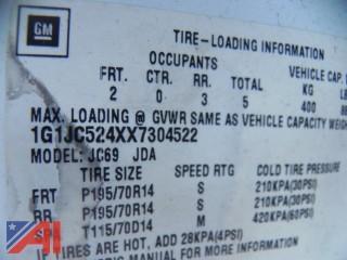 1999 Chevy Cavalier 4DSD