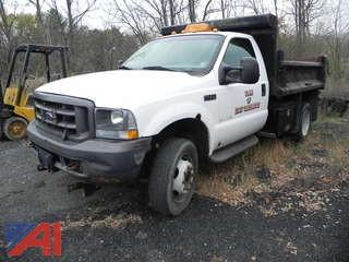 2002 Ford F450 Pickup w/ Dump and Plow