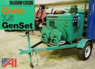 Onan 7.5 KW GenSet Pull Behind Generator