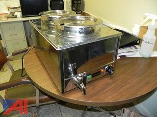 Cadco Ltd. Stainless Steel 2 Bay Soup Warmer