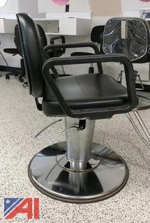(2) Hydraulic Hair Cutting Chairs