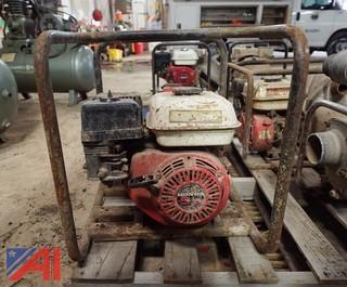 (3) Trash Pumps By Homelite And Honda