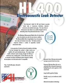 (2) Pc Metrotech Line Locator & Electroacoustic Detectors