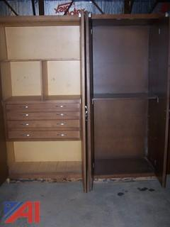 (2) 6' Tall Cabinets