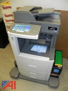 2012 Lexmark XS658de Multi Function Copy Machine