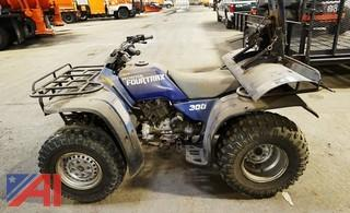 Honda FourTrax 300 4x4 Quad With Plow Blade