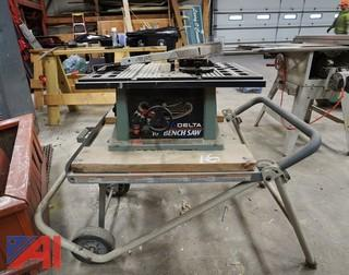 "Delta 36-540 Portable 10"" Table Saw & Work Stand"