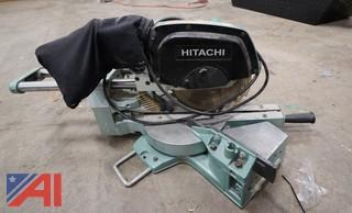 (2) Piece Hitachi Sliding Compound Saw & Sawcat Circular Saw