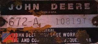 1984/1985 John Deere 672A Road Grader
