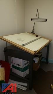 Drafting Table with Lamp