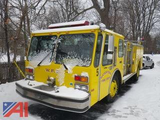 1986 E-One Federal Motors Pumper Hurricane