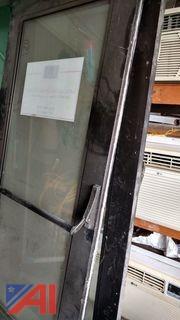 (2) Push Bar Glass Doors