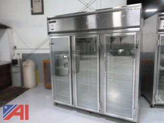 Continental 3 Door Glass Freezer
