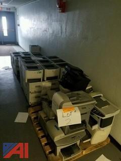 (62) Various Hewlett Packard Printers