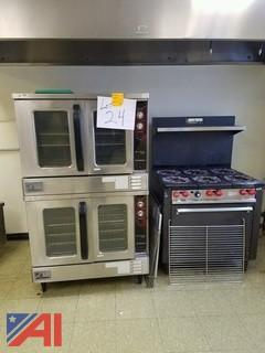 (2)  Southbend Ovens and (1) Franklin Gas Range