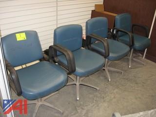 (4) Salon Shampoo Station Chairs