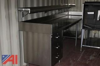 Stainless Steel Work Table with Shelf