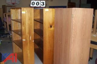 Large Lot of Wooden, Plastic and Metal Bookcases