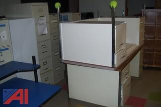 Large Lot of Desks, Chairs and File Cabinets and More