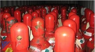 Large Lot of various sized CO2 and Hydrogen Cylinders