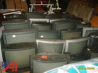 Large Lot of TV's and Carts