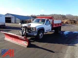 2001 GMC 3500 Dump with Sander and Plow